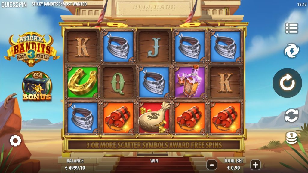 Sticky Bandits 3: Most Wanted slot online